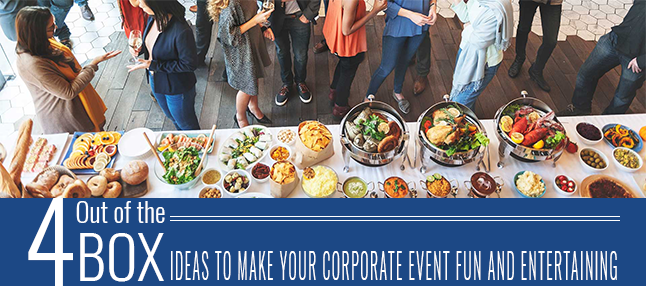 Out of box ideas for corporate event